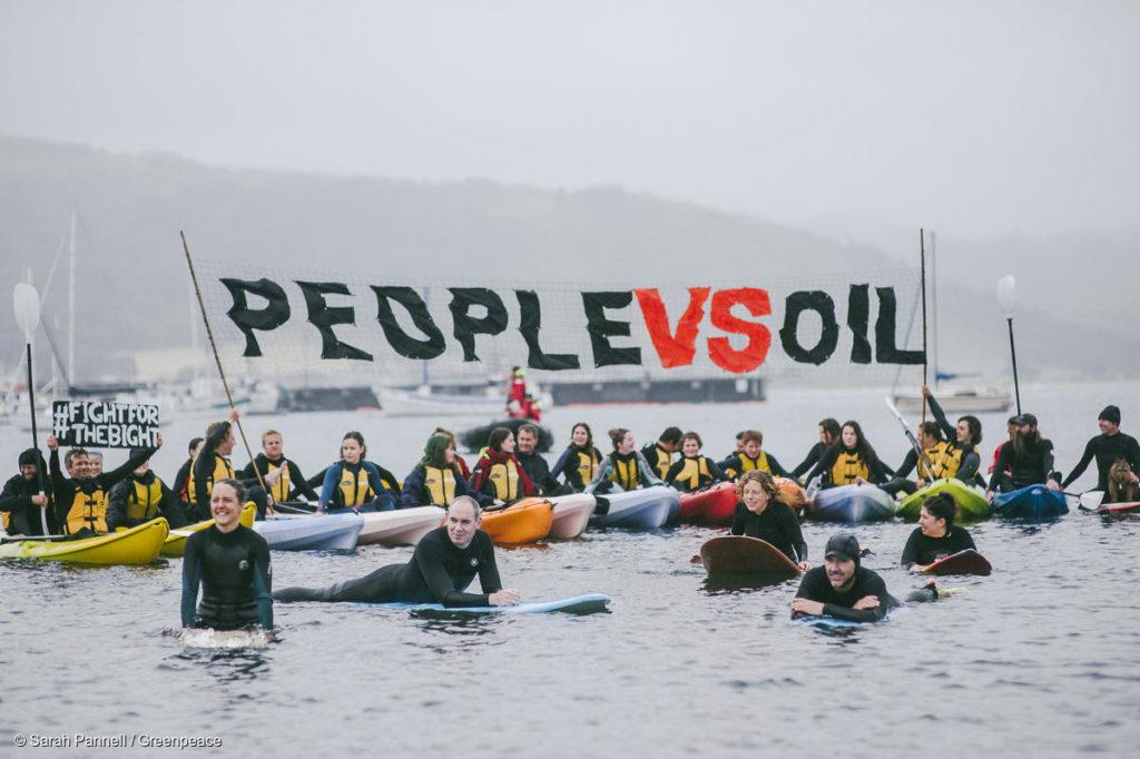 Making Oil History Community Flotilla in Apollo Bay, Australia